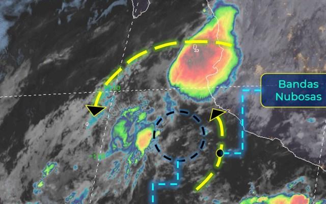 Nayarit y Jalisco padecerán lluvias intensas por tormenta tropical Julio - Tormenta tropical Julio. Foto de SMN