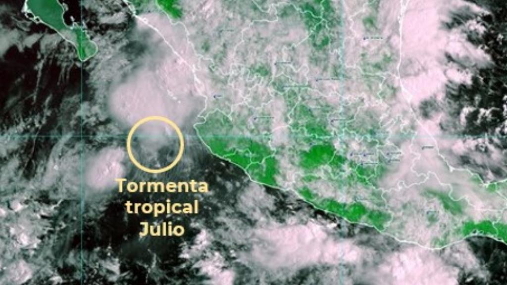 Tormenta tropical Julio provoca lluvias fuertes en Nayarit, Jalisco y Michoacán - Tormenta Tropical Julio