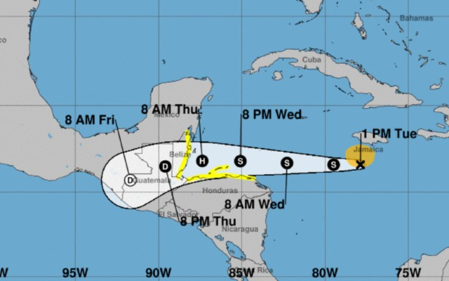 Tormenta tropical Nana se forma cerca de Jamaica y se dirige a Honduras - Tormenta tropical Nana. Foto de NOAA