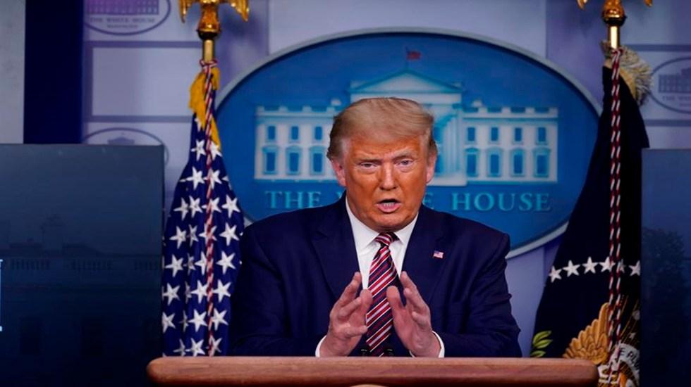 Trump no pagó impuestos sobre la renta en 10 de 15 años previos a elecciones de 2016: NYT - El presidente Donald Trump. Foto EFE