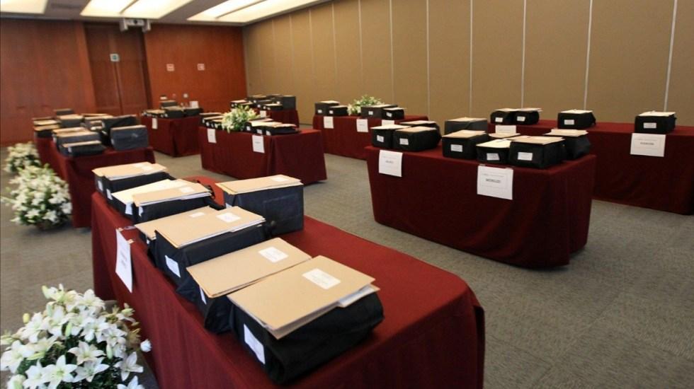 Repatrian urnas con cenizas de 107 mexicanos muertos por COVID-19 en EE.UU. - Urnas con cenizas de mexicanos muertos por COVID-19 en EE.UU. Foto de SRE