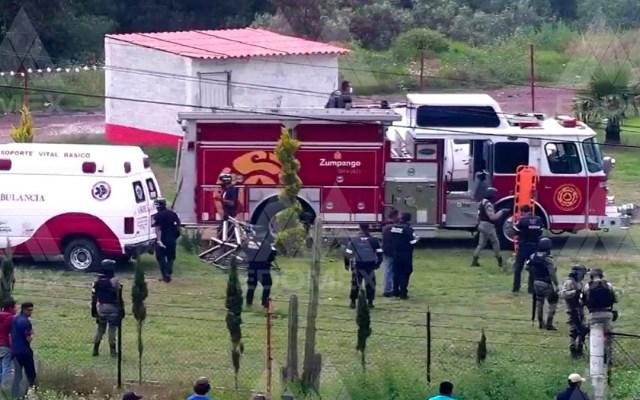 Explosión de polvorín en Zumpango deja cuatro lesionados - Zona en la que explotó un polvorín en Zumpango. Foto de @C5Edomex
