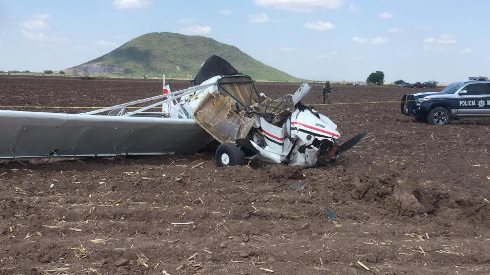 Se desploma avión pequeño en Guasave, Sinaloa - Foto de @DulcinaParra