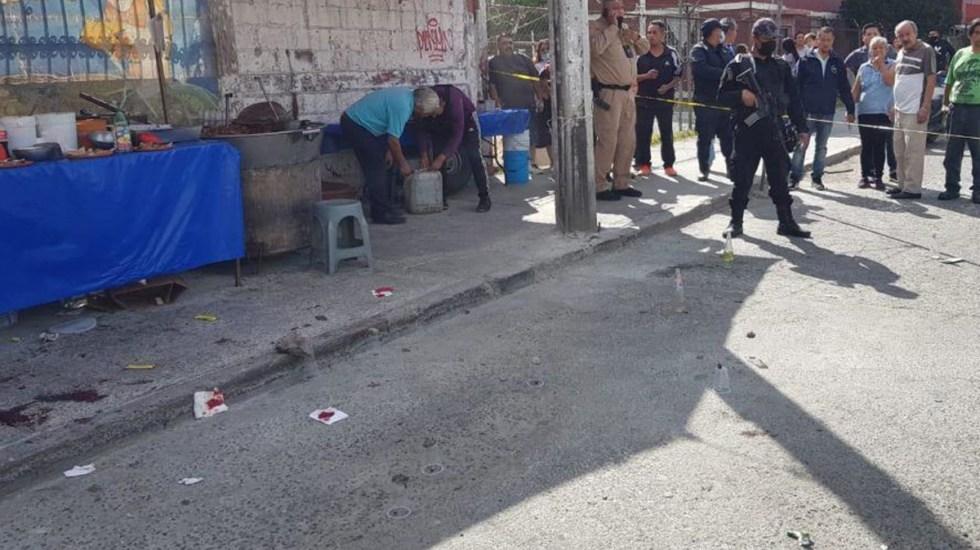 #Video Balacera en puesto de carnitas de Coacalco deja dos heridos - Balacera en puesto de carnitas en Coacalco. Foto de Hoy Estado