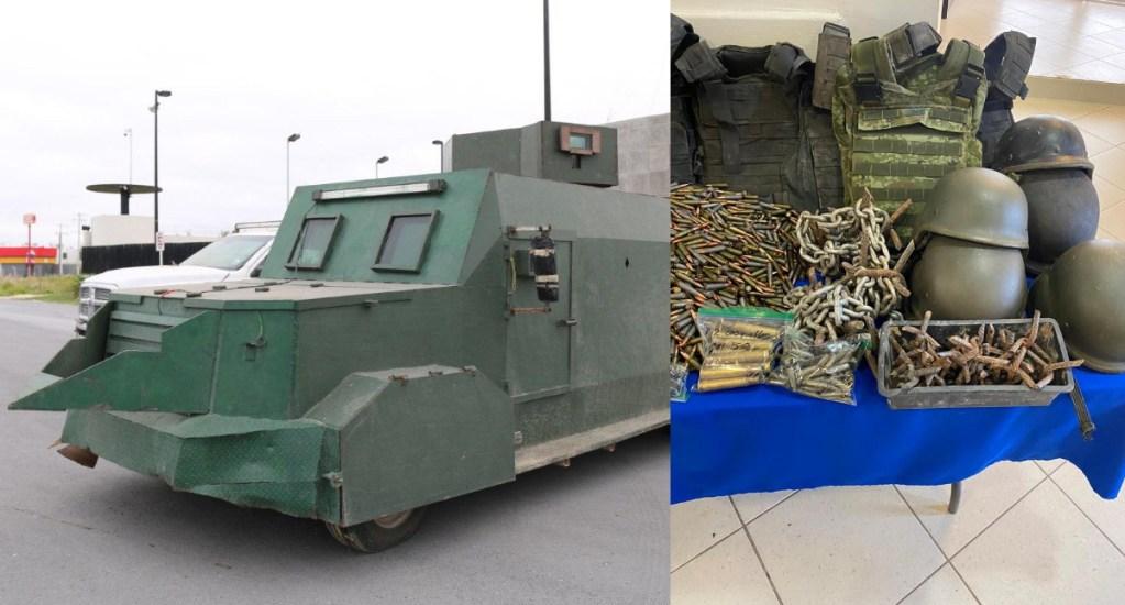 Decomisan en Tamaulipas vehículos con blindaje artesanal y armamento - Camargo decomiso armamento vehículos 2