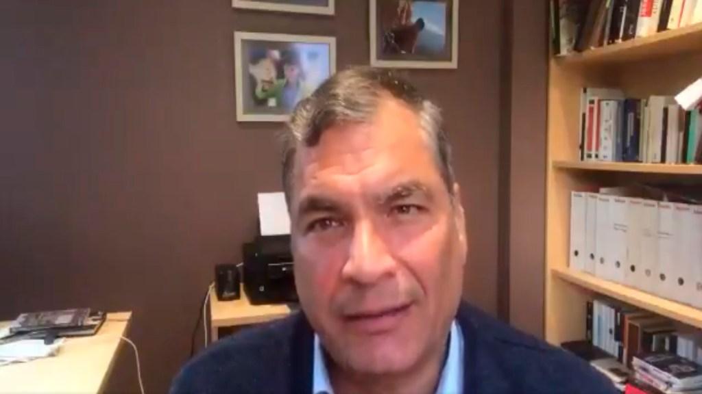 Corte de Ecuador solicita a Interpol arrestar al expresidente Rafael Correa - El expresidente de Ecuador, Rafael Correa. Foto Captura de pantalla