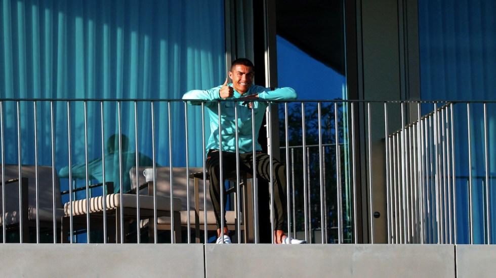 Cristiano Ronaldo asegura que no tiene síntomas ni dolor por el COVID-19 - Foto de EFE