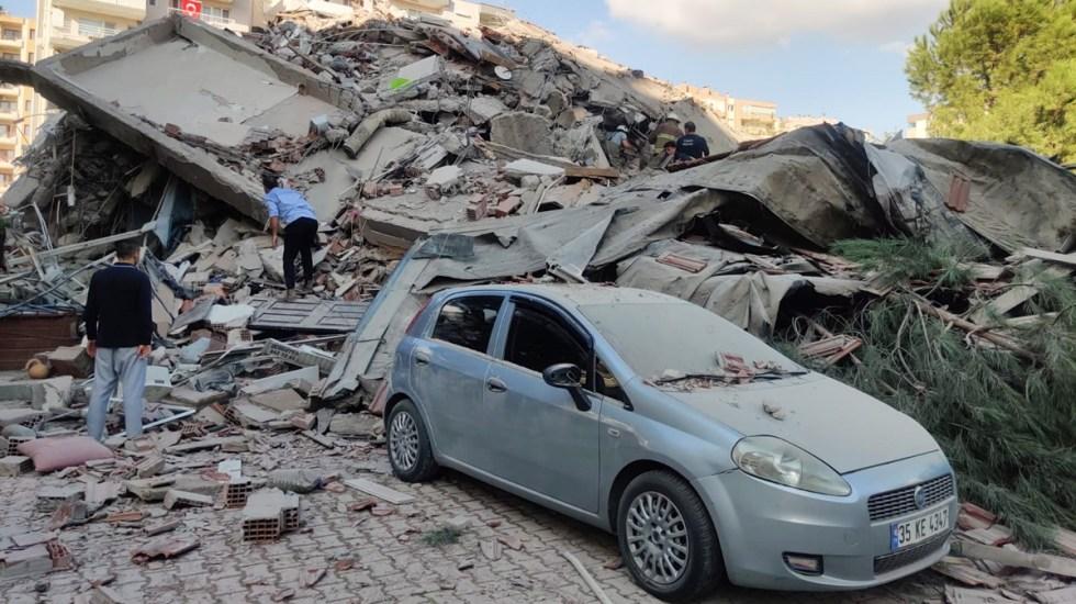 Aumenta a 22 número de muertos por sismo en Grecia y Turquía; no hay mexicanos afectados, confirma cónsul - Daños por terremoto en mar Egeo. Foto de EFE