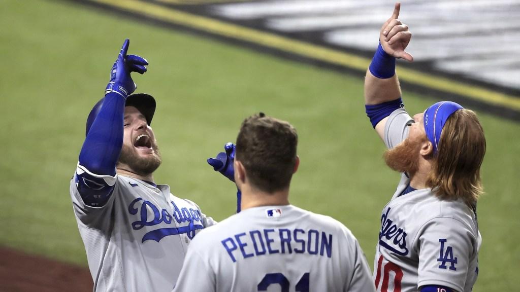 Dodgers de Los Ángeles a un partido de ganar la Serie Mundial - Dodgers Los Ángeles Serie Mundial 25102020