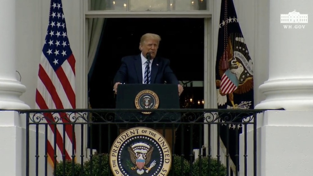 Donald Trump acusa a Biden de querer abrir la frontera; se necesita ley y orden, asegura - Captura de pantalla