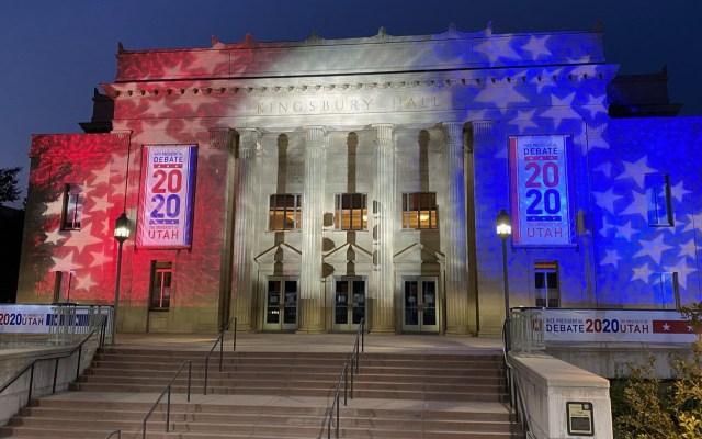Con mica y 3.9 m de distancia, así se realizará el debate de los candidatos a vicepresidente de EE.UU. - Edificio de la Universidad de Utah en la que se realizará el debate entre candidatos a vicepresidente de EE.UU. Foto de @UUtah