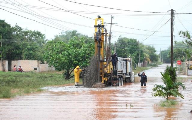 Delta ya es huracán categoría 1; se aproxima a costas de Quintana Roo - Las zonas afectadas en Tizimín, Yucatán por el paso de 'Gamma'. Foto Twitter @MauVila