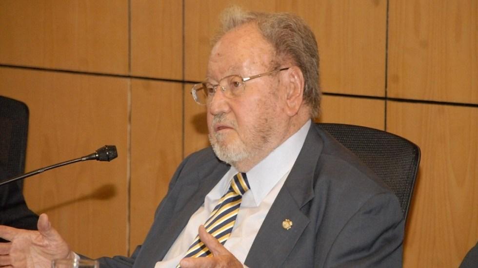 Murió Guillermo Soberón, exrector de la UNAM