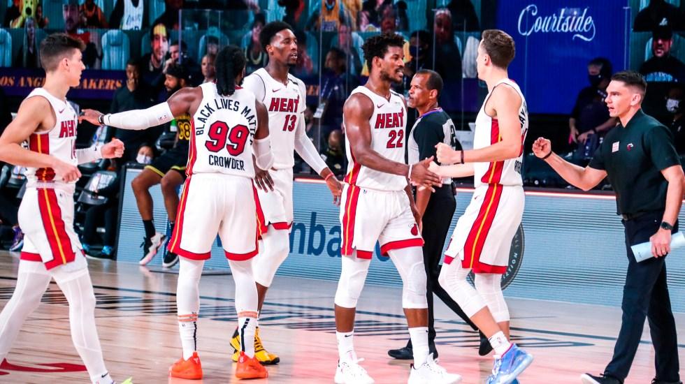 Heat de Miami derrotan por 111-108 a Los Angeles Lakers y obligan a jugar sexto partido - Foto @MiamiHEAT