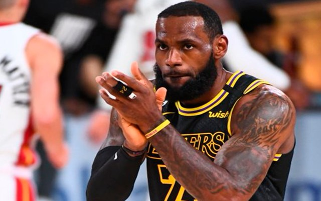Lideran James y Davis triunfo de Los Angeles Lakers; aventaja 2-0 a Heat de Miami en Finales de NBA - LeBron James Foto Twitter @NBA