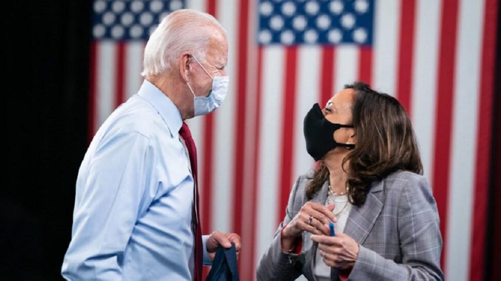 Joe Biden y Kamala Harris, negativos a COVID-19 - Joe Biden y Kamala Harris. Foto de joebiden.com