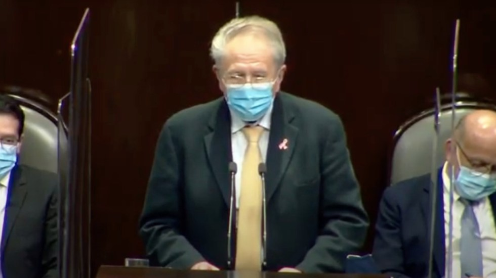 """#EnVivo """"Ante esta pandemia el objetivo gubernamental se ha enfocado en salvar vidas"""", asegura Alcocer ante diputados - Captura de pantalla"""