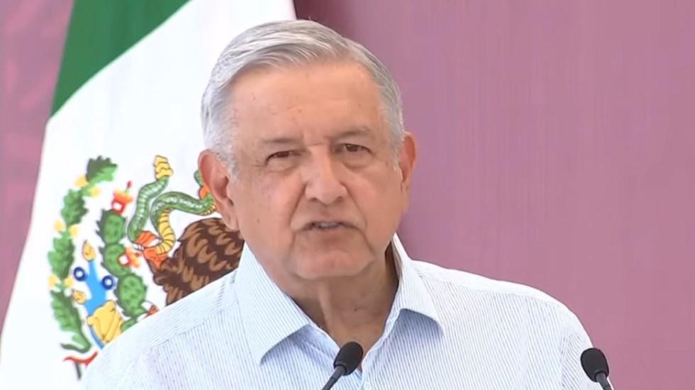 """No coman ansias"", pide López Obrador a opositores de cara a elecciones de 2021 - López Obrador en Sonora. Captura de pantalla"
