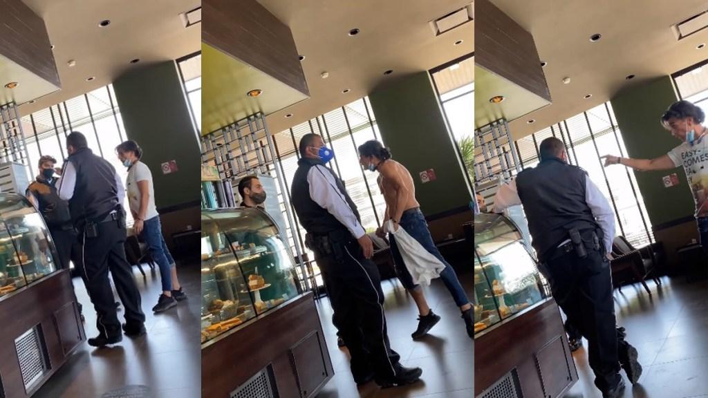 #Video Enfurece #LordPantera con empleado de cafetería por uso de cubrebocas - #LordPantera en cafetería de Zapopan, Jalisco. Captura de pantalla