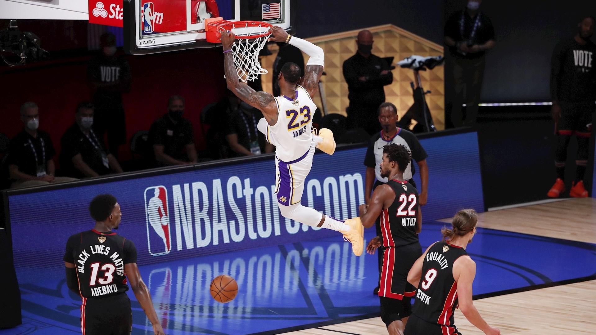 Los Ángeles Lakers Miami Heat NBA finales 3