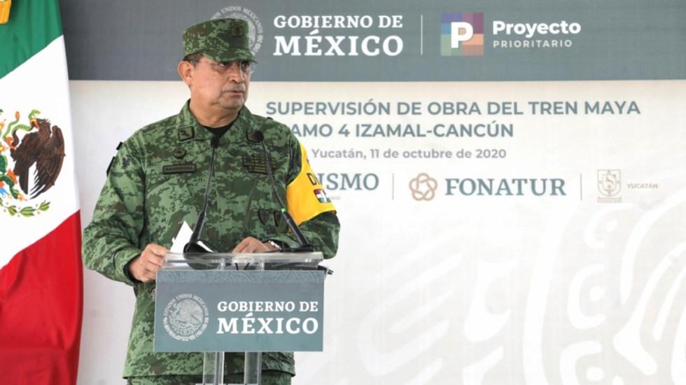 Desmiente Luis Cresencio Sandoval positivo por COVID-19 - Luis Cresencio Sandoval en supervisión de construcción del Tren Maya. Foto de lopezobrador.org.mx