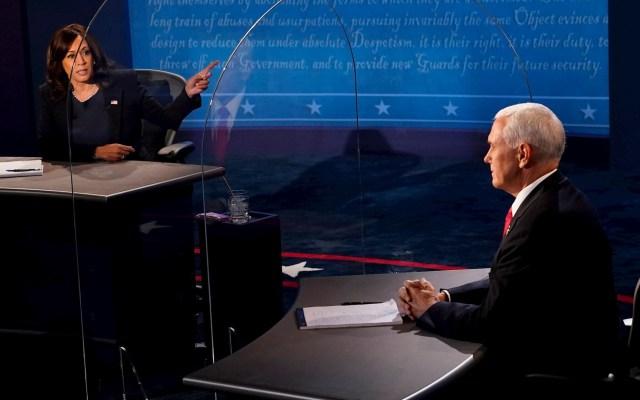 Debate vicepresidencial: Diálogo civilizado entre Pence y Harris marcado por la falta de respuestas - Debate entre Mike Pence y Kamala Harris. Foto de EFE