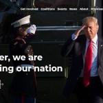 Hackean la página de campaña de Donald Trump - Página de campaña presidencial de Donald Trump. Captura de pantalla