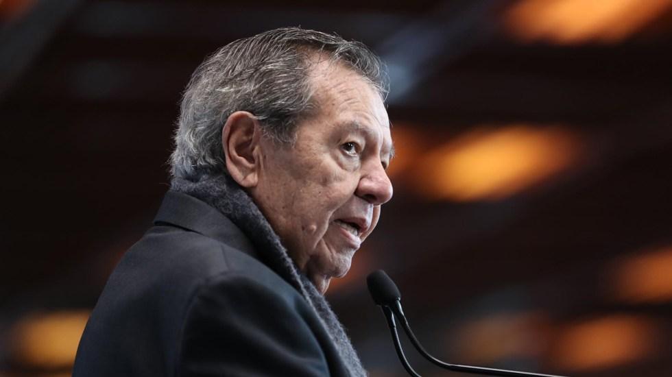 Ampliar presidencia de Zaldívar en la SCJN, 'patéticamente inconstitucional', critica Muñoz Ledo - Porfirio Muñoz Ledo. Foto de Twitter @MunozLedoPorfirio