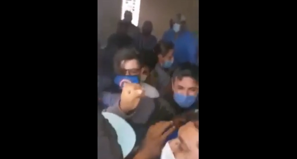 #Video Riña por bodega en Hidalgo con despensas y propaganda electoral deja seis lesionados - Riña Hidalgo