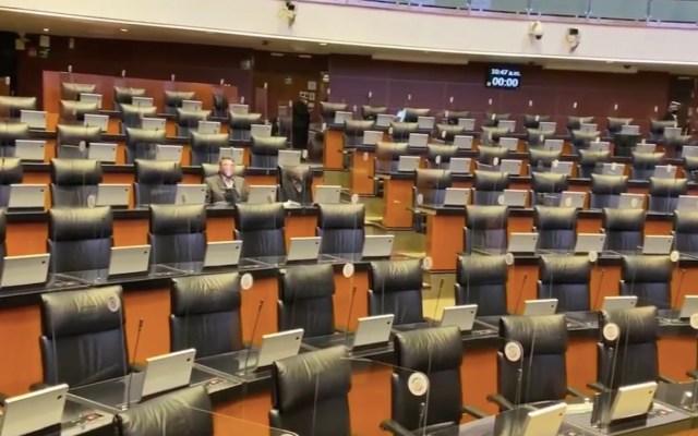 Posponen comparecencia de Marcelo Ebrard en el Senado debido a bloqueo de entradas por manifestantes - Captura de pantalla