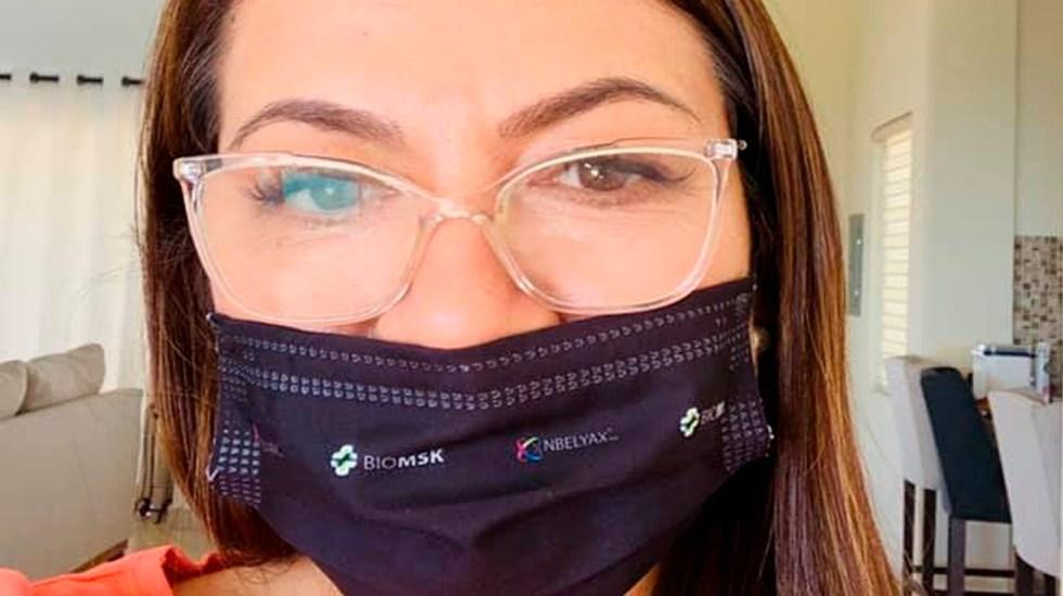 Senadora Guadalupe Saldaña da positivo a COVID-19; estuvo presente en sesión para extinguir Fideicomisos - Foto Facebook Lupita Saldaña
