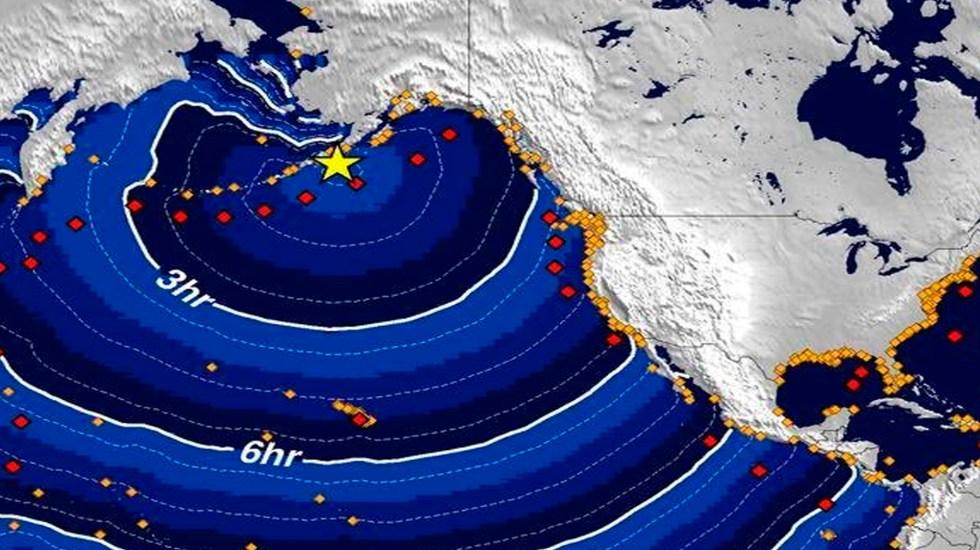 Réplicas posteriores por sismo en el sur de Alaska; advertencia de tsunami se degrada - Foto Twitter @NWS_NTWC