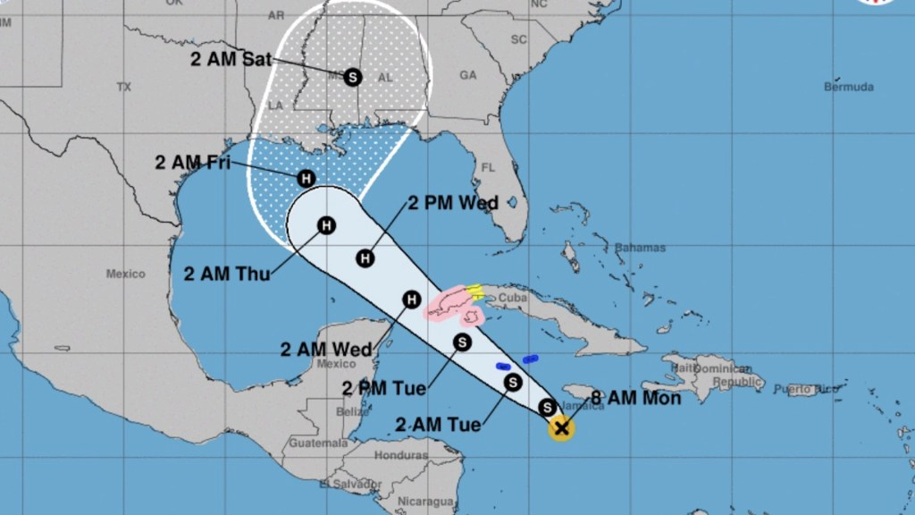 Se forma tormenta tropical Delta en el Caribe; avanza hacia el Golfo de México - Foto de NHC