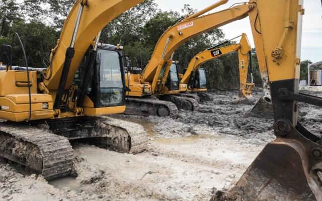 Defiende Sedena participación de militares en construcción de obras prioritarias del Gobierno de México - Construcción del Tren Maya en Campeche. Foto de lopezobrador.org.mx