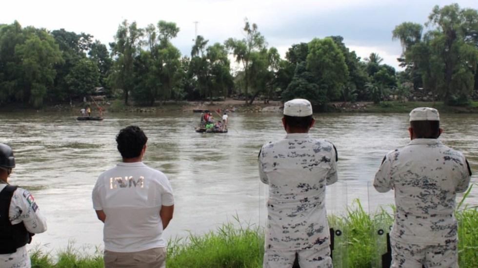 México blinda frontera sur, desde Chiapas hasta Tabasco, ante llegada de Caravana Migrante - Foto de INM