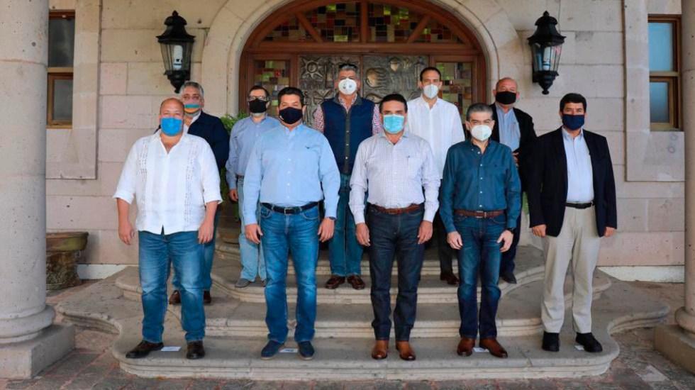 Enrique Alfaro, gobernador de Jalisco, propone que los estados recauden los impuestos - En la foto, gobernadores de la Alianza Federalista. Foto Twitter @AFederalista