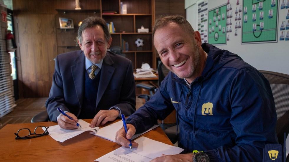 Andrés Lillini quedará al frente de los Pumas por los próximos dos años - Foto de Pumas