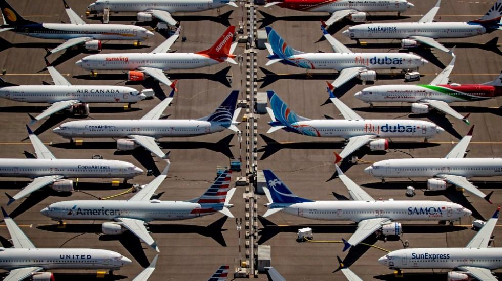 EE.UU. autoriza que los 737 MAX de Boeing vuelvan a volar con pasajeros - Vista de varios Boeing 737 Max 8 en Seattle, Washington. Foto de EFE.