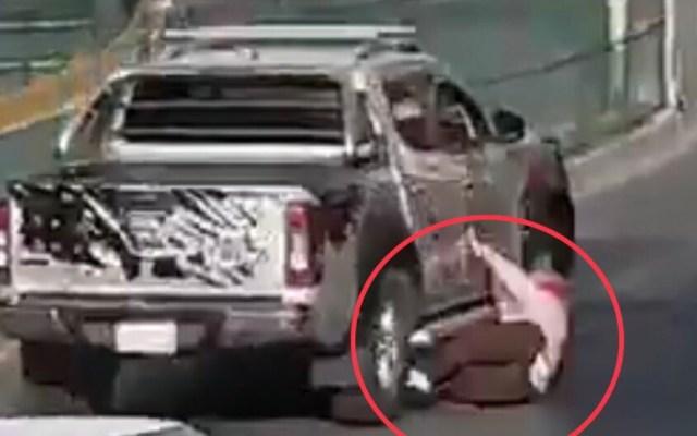 Ubican camioneta que tiró a mujer en San Jerónimo, en la CDMX - Foto de @c4jimenez
