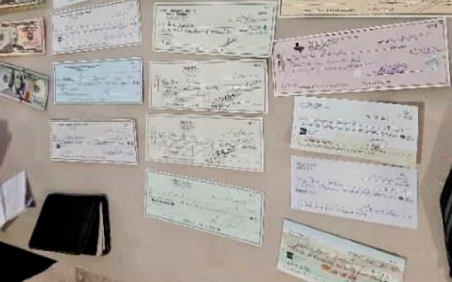 Aduanas y Guardia Nacional frenan ingreso ilegal de 19 millones de pesos en cheques y divisas en aduanas de Toluca y AICM - Foto Especial