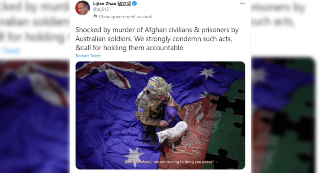 """Australia exige a China disculpa por """"repugnante"""" tuit falso. Noticias en tiempo real"""