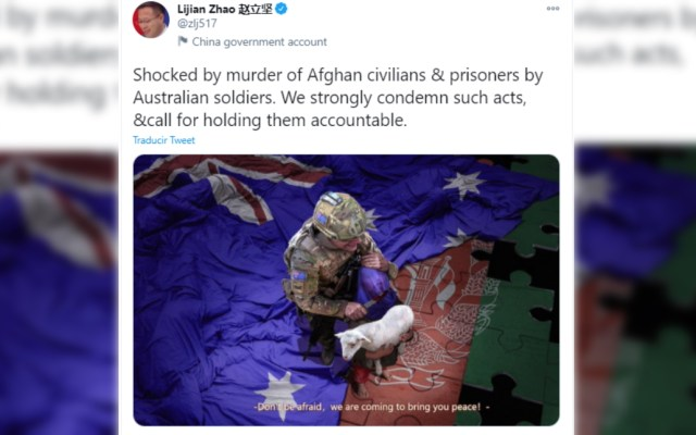 "Australia exige a China disculpa por ""repugnante"" tuit falso - China gobierno Australia Tuit"
