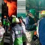 #Video Control de incendio en subestación de CFE al 70 por ciento; más de 30 mil usuarios afectados