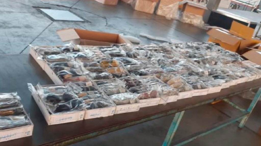 Aduanas frena ingreso ilegal de 10 mil pruebas COVID-19 en aduana de Guadalajara, Jalisco - Foto Twitter @SATMX