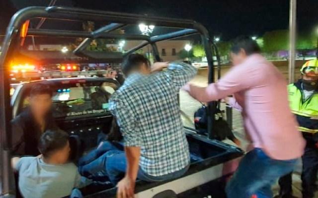 Detienen a 32 personas en León, Guanajuato, por no usar cubrebocas - Foto Twitter @Seguridad_Leon