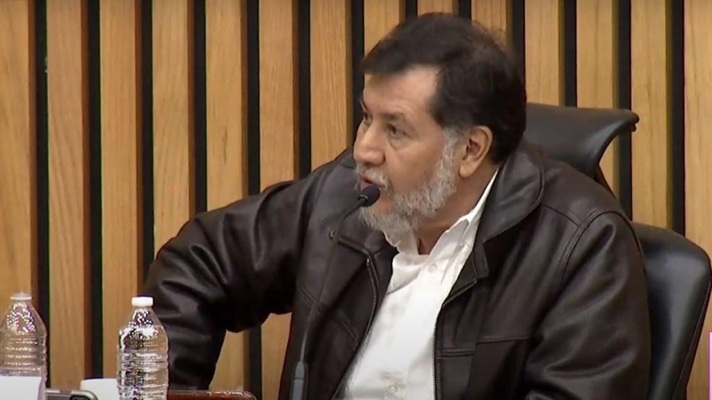 Fernández Noroña acusa campaña de linchamiento en su contra por asesinato del alcalde de Chahuites - Fernández Noroña en sesión ordinaria del Consejo General del INE. Captura de pantalla