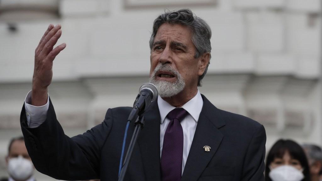 Francisco Sagasti pone fin al vacío de poder en Perú, señala Daniel Zovatto - Francisco Sagasti tomará posesión de la Presidencia interina de Perú este 17 de noviembre. Foto de EFE