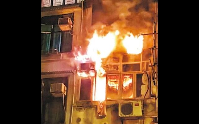 #Video Incendio en edificio de Hong Kong deja al menos siete muertos - Hong Kong incendio