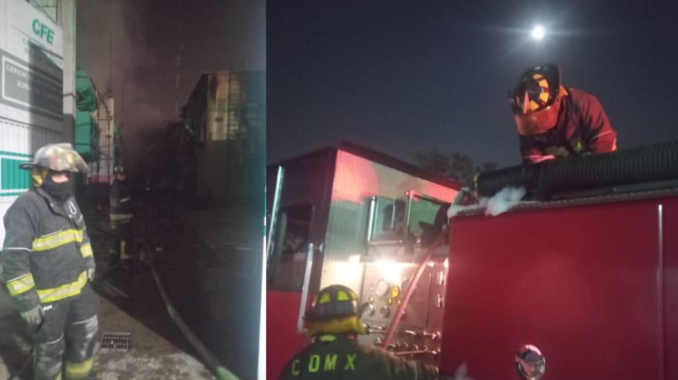 #Video Incendio en subestación de CFE completamente controlado; más de 30 mil usuarios afectados - incendio Benito Juárez 6