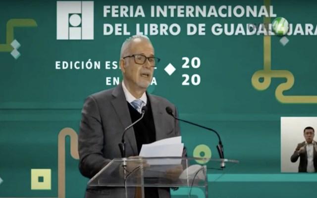FIL no se ha consolidado en contra de personas e instituciones, asegura Raúl Padilla en arranque virtual de la feria - Captura de pantalla